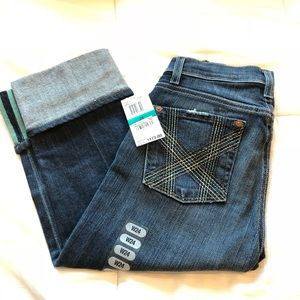 NWT 7 for all Mankind Bloomingdale crop denim sz24